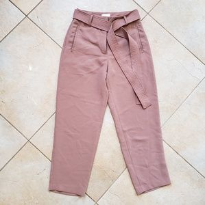 SOLDAritzia Wilfred Taupe Tie Front Pants Size 6